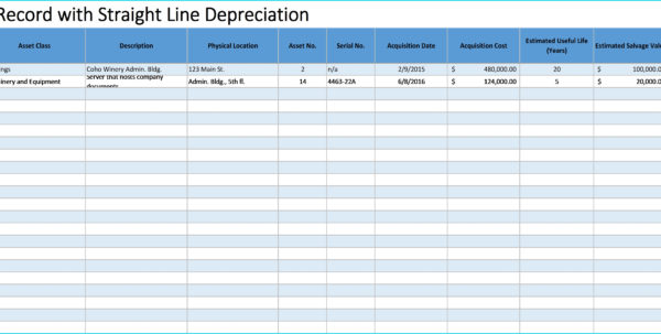 Fixed Asset Spreadsheet Inside Depreciation Schedule Template Best Of Excel Estimating Spreadsheet