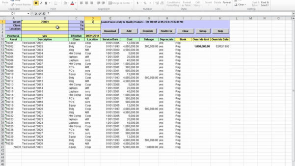 Fixed Asset Spreadsheet With Regard To Fixed Asset Roll Forward Spreadsheet – Spreadsheet Collections