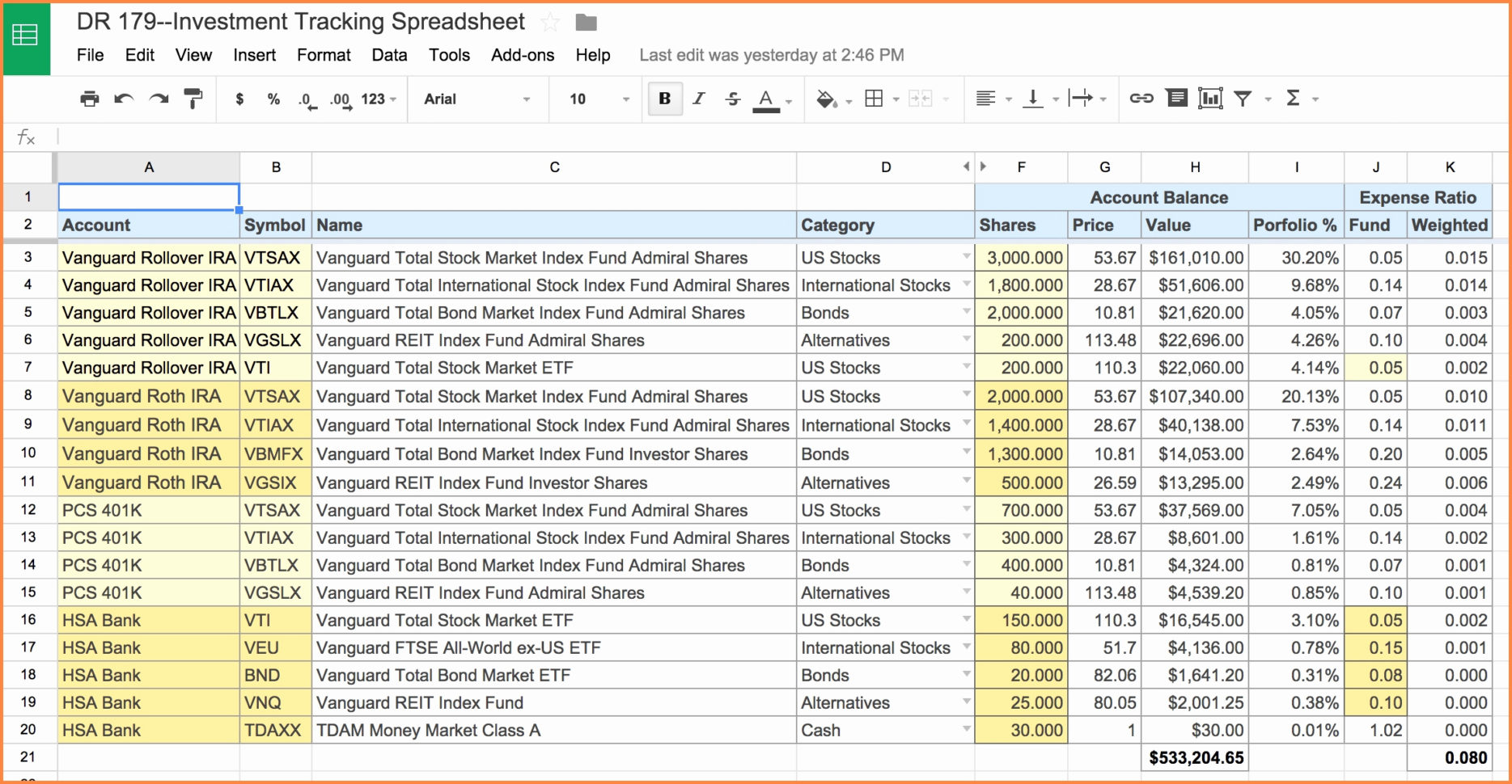 Fixed Asset Spreadsheet Within Asset Tracking Spreadsheet Personal Free Fixed Allocation Invoice