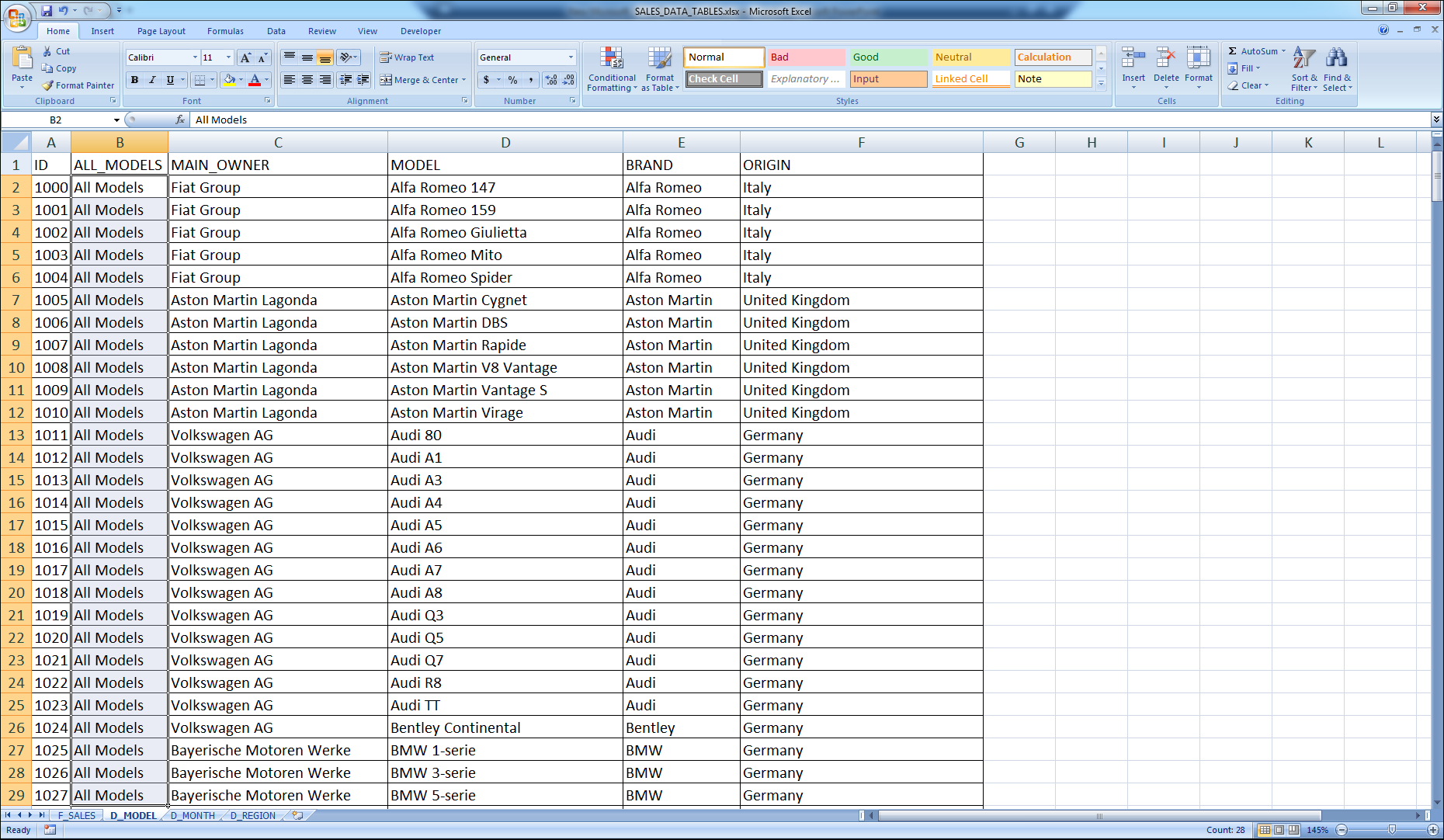 Flat File Database And Spreadsheets In Prepare An Excel File As Odbc Source For Data Advisor  Cognossource