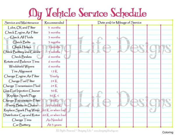 Fleet Maintenance Schedule Spreadsheet Within Fleet Maintenance Spreadsheet Template Awesome Car Excel Schedule