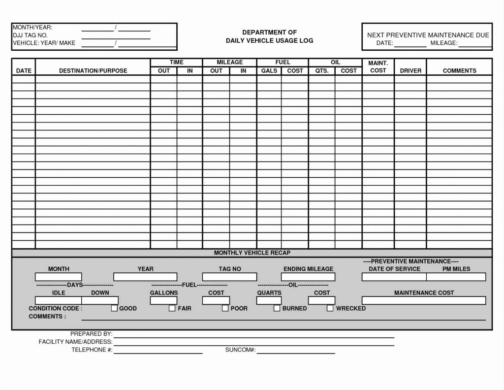 Fleet Maintenance Tracking Spreadsheet In Maintenance Tracking Spreadsheet Building Vehicle Free Invoice
