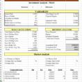 Flip Analysis Spreadsheet Regarding Property Analysis Spreadsheet With Roi And Moa  Earltoms