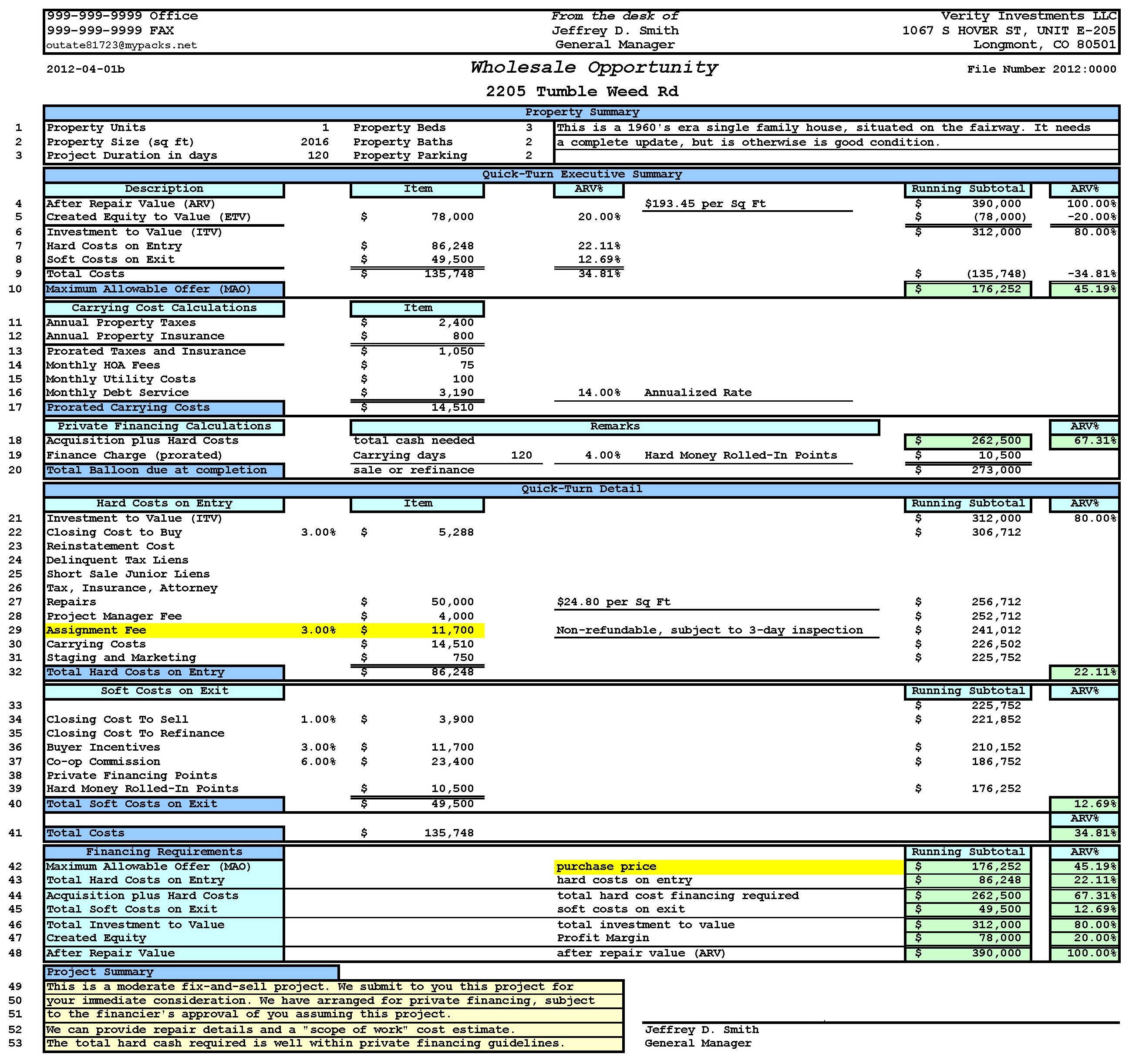Flip Calculator Spreadsheet Intended For House Flipping Spreadsheet Template  My Spreadsheet Templates