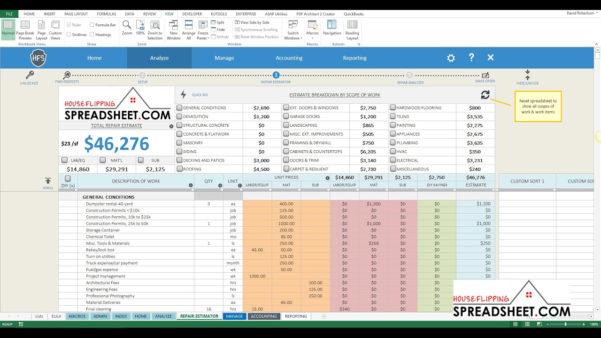 Flip Spreadsheet Excel Intended For House Flip Spreadsheet How To Create An Excel Spreadsheet Excel