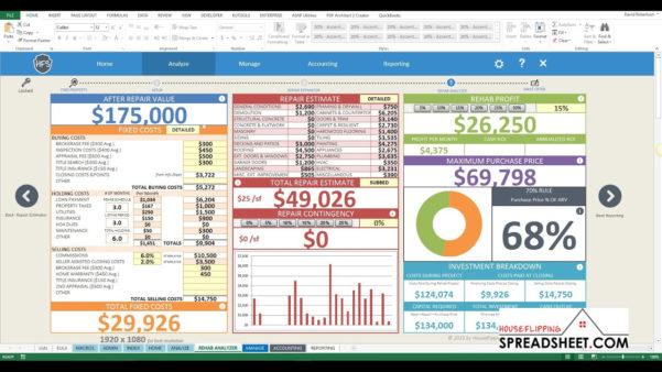 Flip Spreadsheet Excel Regarding Real Estate Flip Spreadsheet For How To Create An Excel Spreadsheet