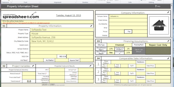 Flip Spreadsheet Excel Regarding Real Estate Flip Spreadsheet Popular Spreadsheet App Excel