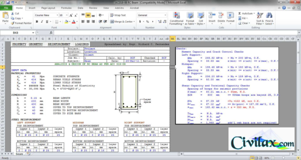 Flitch Beam Design Spreadsheet With Flitch Beam Design Spreadsheet As Well As Flitch Beam Design Beam