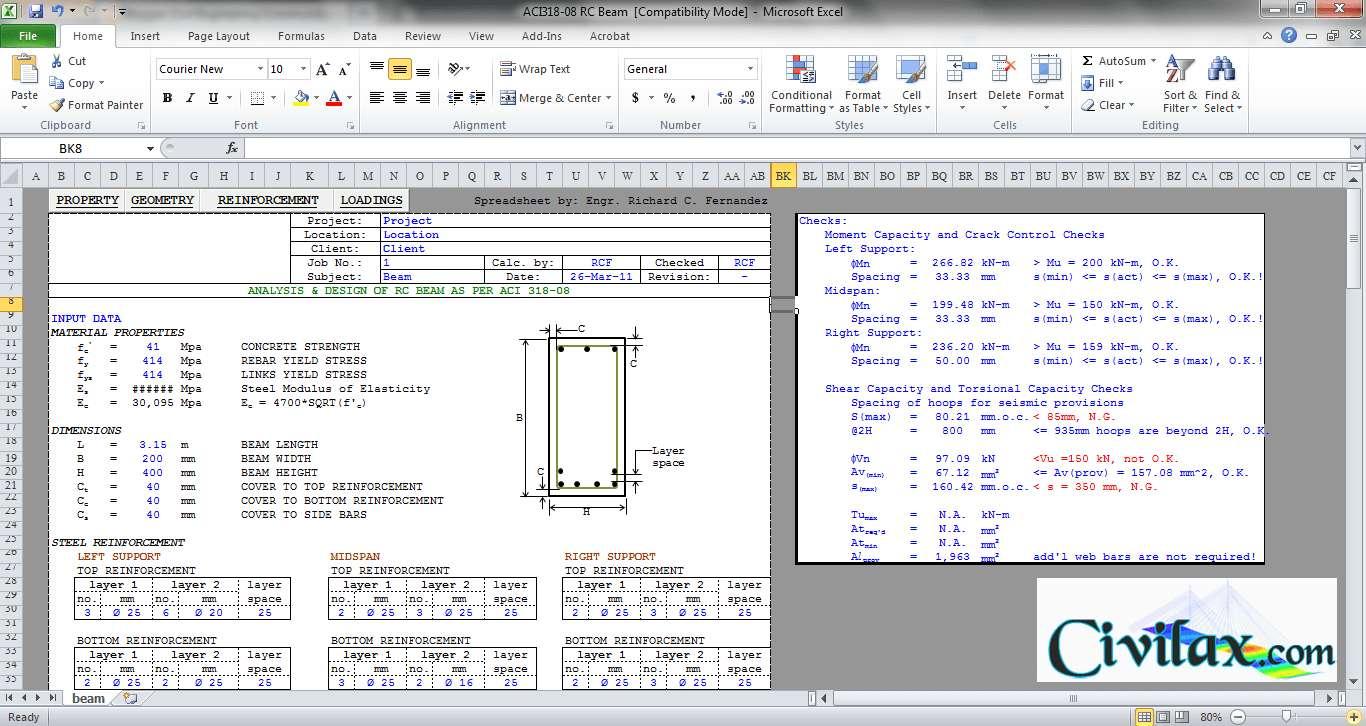 Flitch Beam Spreadsheet regarding Flitch Beam Design Spreadsheet As Well As Flitch Beam Design Beam