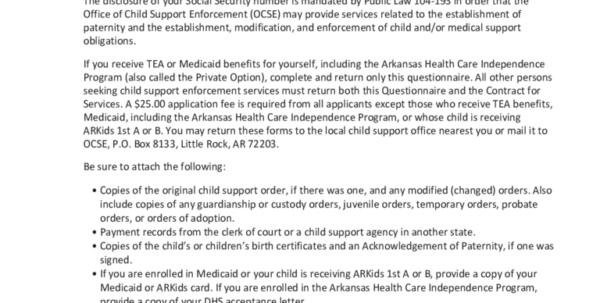 Florida Financial Affidavit Excel Spreadsheet Throughout Child Support Forms Enforcement Form Arkansas Unique Templates
