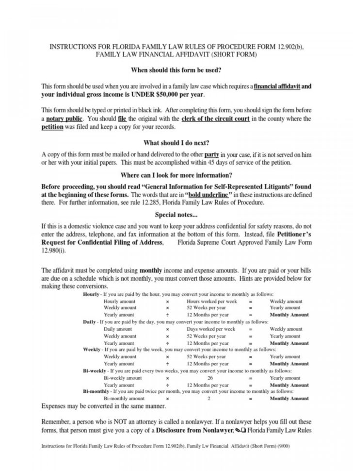 Florida Financial Affidavit Excel Spreadsheet With Regard To Wonderful Family Law Forms Form Templates California Pdf Oregon