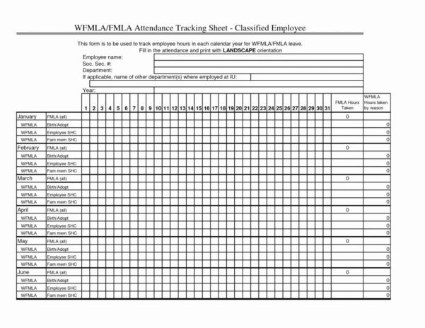 Fmla Rolling Calendar Tracking Spreadsheet With Regard To Fmla Rolling Calendar Tracking Spreadsheet Lovely Intermittent Leave