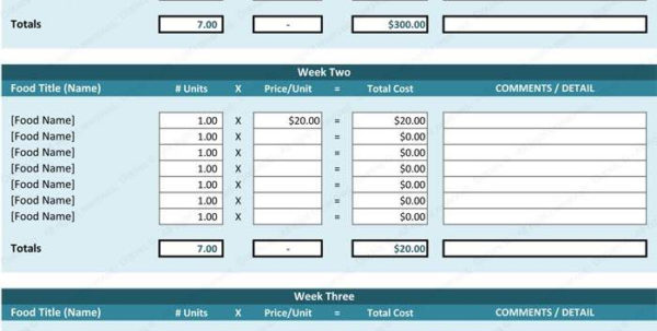 Food Cost Spreadsheet Excel Pertaining To Restaurant Food Cost Spreadsheet Free And Food Cost Sheet