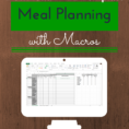 Food Macros Spreadsheet In Meal Planning With Macros  Free Template  Fitaspire
