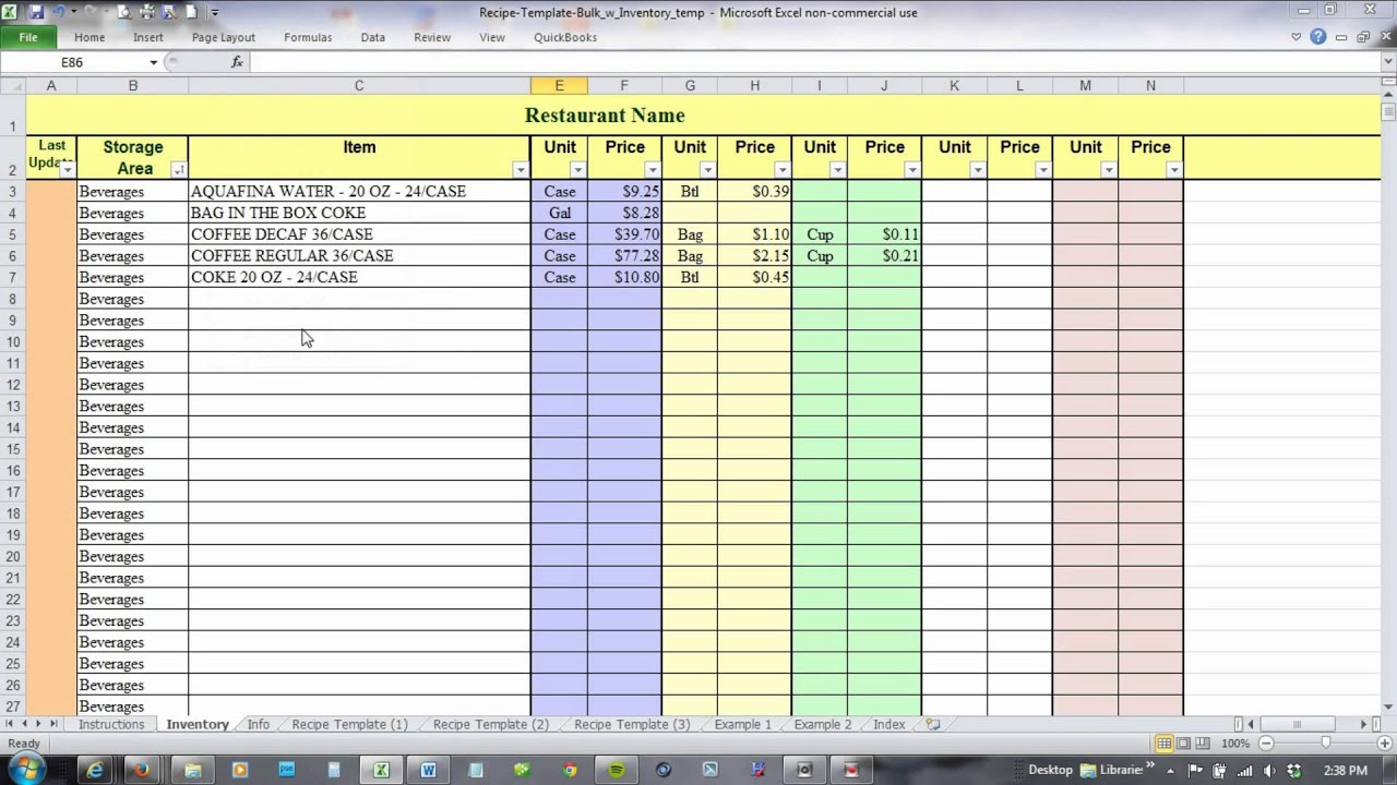 Food Product Cost & Pricing Spreadsheet Free Inside Food Product Cost  Pricing Spreadsheet Free Outstanding Spreadsheet