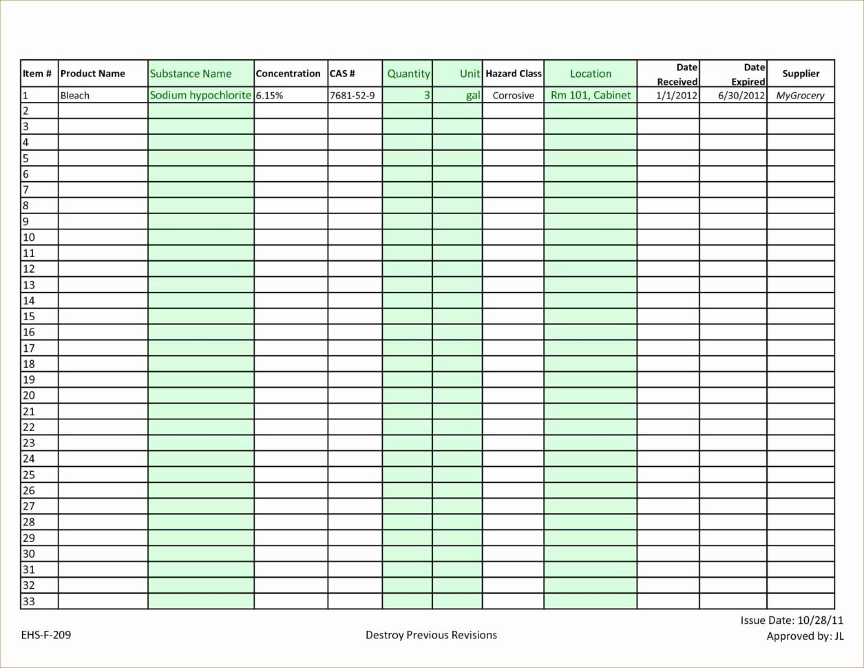 Food Storage Inventory Excel Spreadsheet Pertaining To Food Storage Inventory Spreadsheet Best Of Stock List Template Free