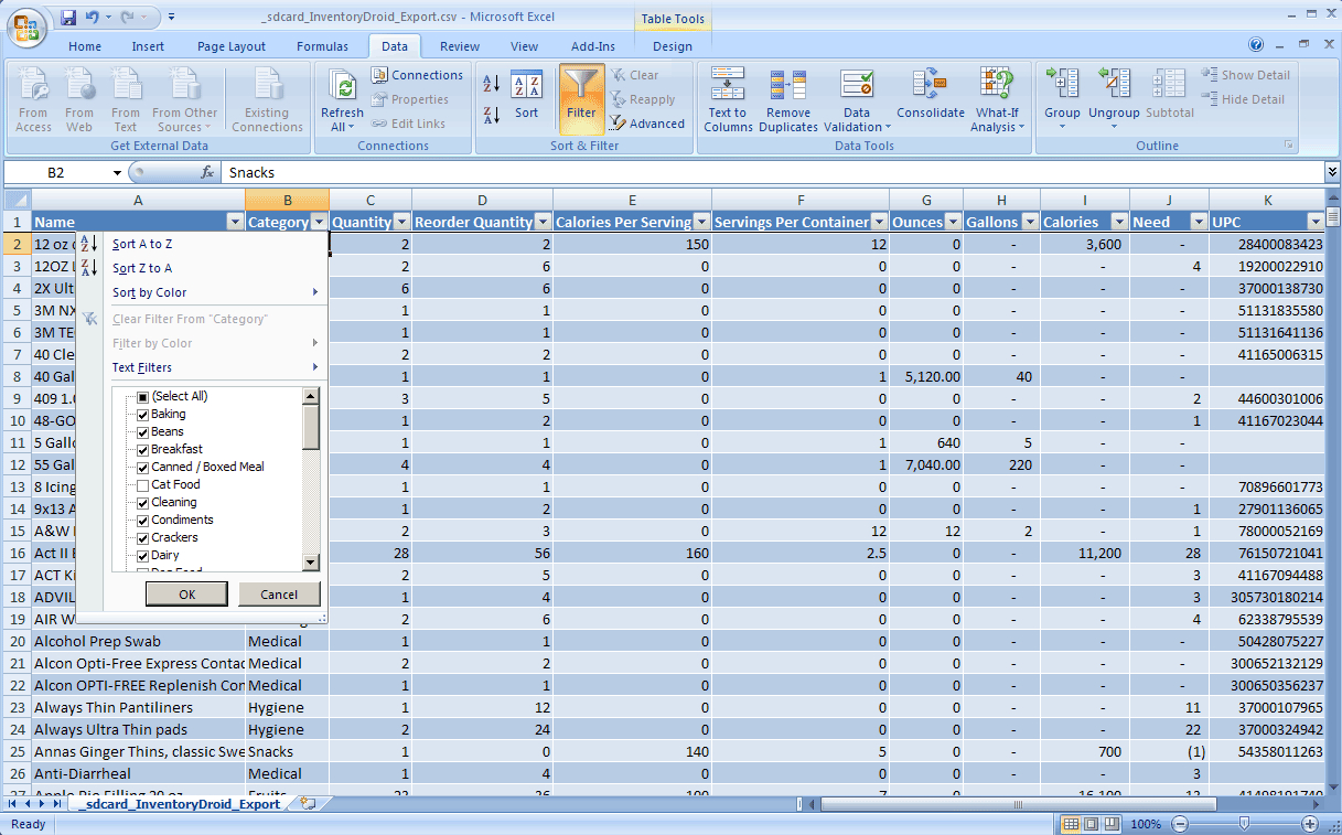 Food Storage Inventory Excel Spreadsheet Pertaining To Pantry Inventory Spreadsheet Template Excel Unique Food Storage