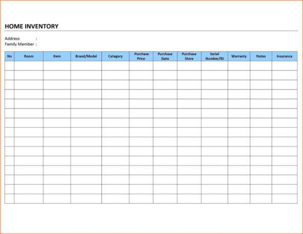 Food Tracking Spreadsheet For Inventory Tracking Spreadsheet Excel And Free Invoice Template