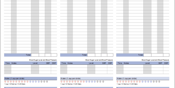Food Waste Tracking Spreadsheet Throughout Food Log Template  Printable Daily Food Log
