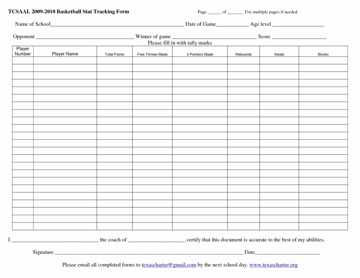Football Player Stats Spreadsheet Template Regarding Printable Basketball Stat Sheet Template As Well Free With Plus