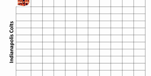 Football Pool Spreadsheet Excel For Weekly Football Pool Spreadsheet Super Bowl Squares Template Excel