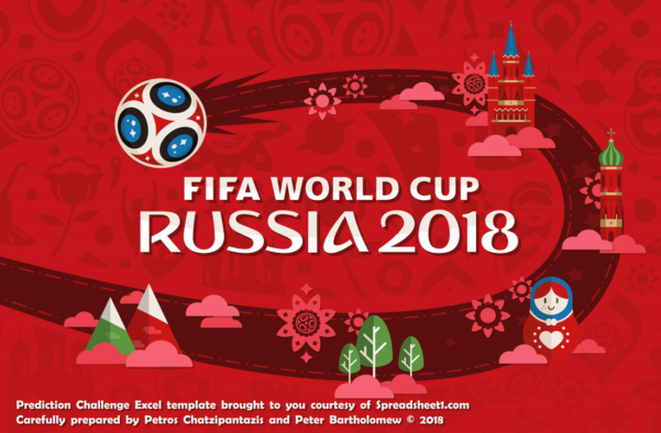 Football Predictions Spreadsheet Within 2018 World Cup Russia Free Predictor Template  Spreadsheet1