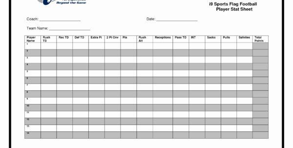 Football Statistics Excel Spreadsheet Intended For Football Stats Sheet Excel Template New Baseball Statistics
