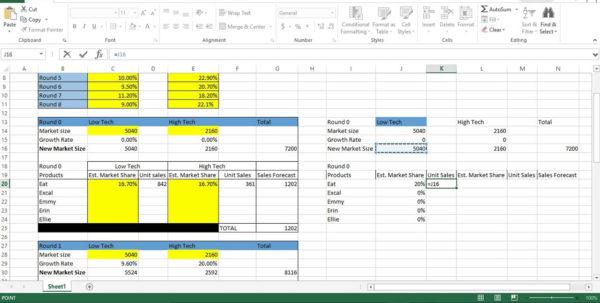 Forecast Spreadsheet Excel With Regard To Capsim Sales Forecast Spreadsheet Stunning Online Spreadsheet Excel