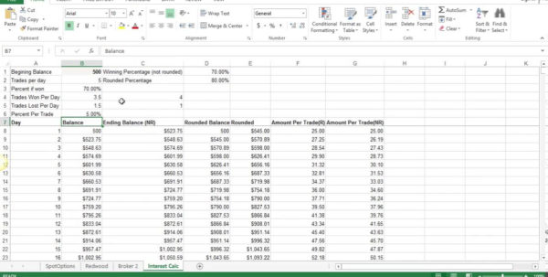 Forex Compound Interest Spreadsheet Intended For Binary Options Compounding , Compounding?