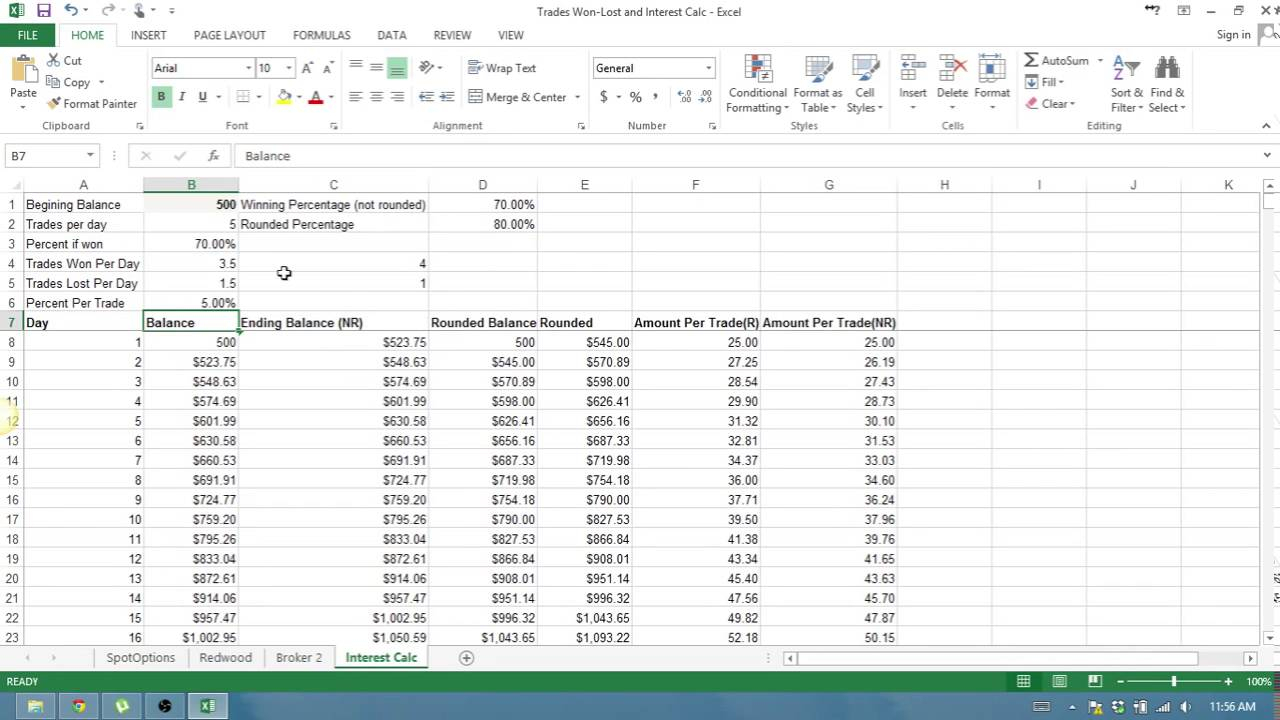 Forex Compounding Calculator Xls - Forex King System