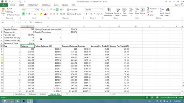 Forex Compounding Spreadsheet With Regard To Binary Options Compounding , Compounding?