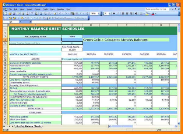 Formatting Excel Spreadsheet Intended For 18  Balance Sheet Excel Format Free Download  Wine Albania