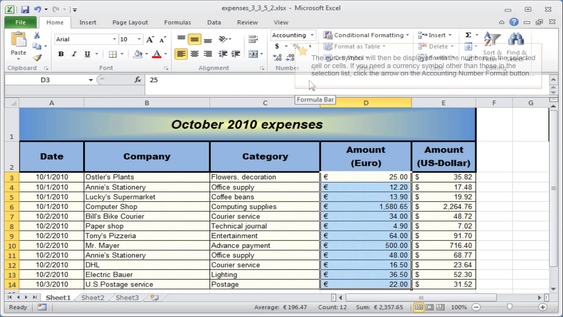 Formatting Excel Spreadsheet Intended For Formatting Excel Spreadsheet Number Format Numbers Currency