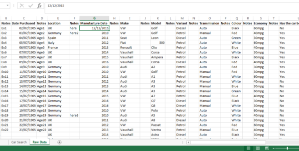 Formatting Excel Spreadsheet Throughout Excel: Date Format Is Throwing Up Random Numbers When Using A