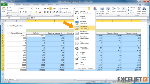 Formatting Excel Spreadsheets Intended For Excel Tutorial: How To Use Accounting Formatting In Excel