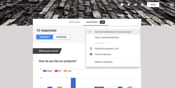 Forms Google Com Spreadsheet In How To Get Customized Email Notifications From Google Forms With A Forms Google Com Spreadsheet Google Spreadsheet