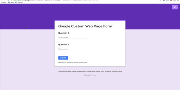 Forms Google Com Spreadsheet Inside Submit Data From A Custom Web Form To Google Spreadsheets On Vimeo