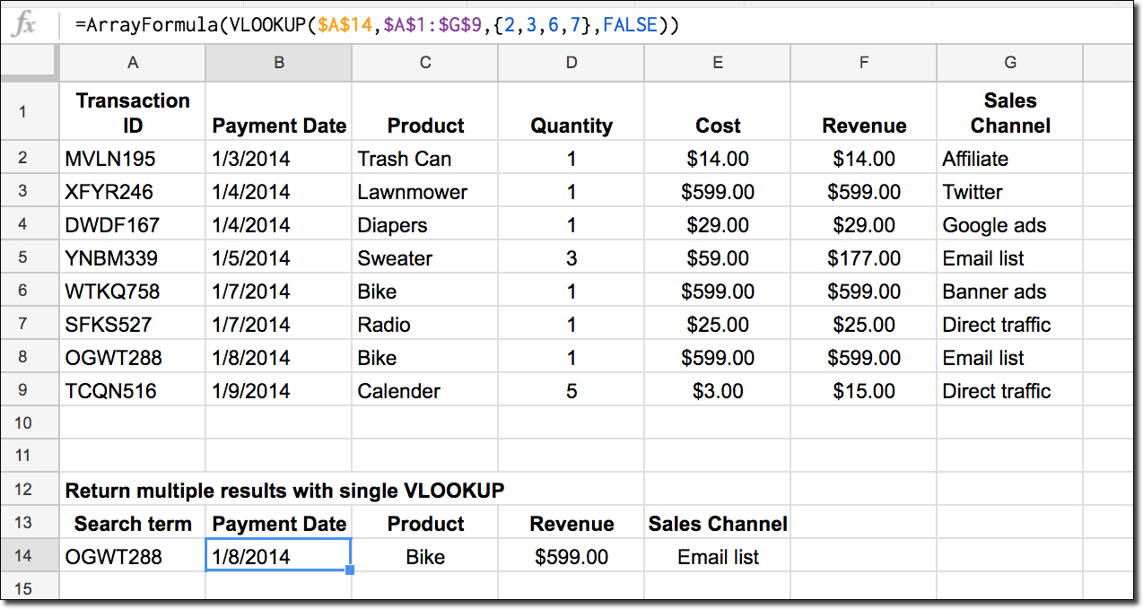 Formula 1 Excel Spreadsheet For How To Return Multiple Columns With Vlookup Function In Google Sheets