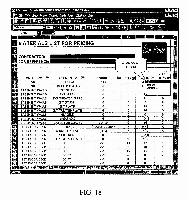 Framing Takeoff Spreadsheet Throughout Framing Takeoff Spreadsheet – Spreadsheet Collections