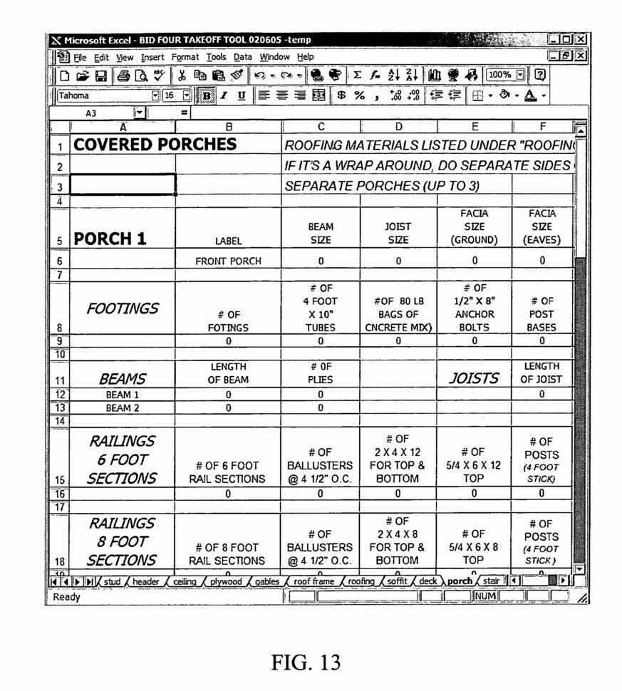 Framing Takeoff Spreadsheet Within Framing Takeoff Spreadsheet Awesome Spreadsheet Construction