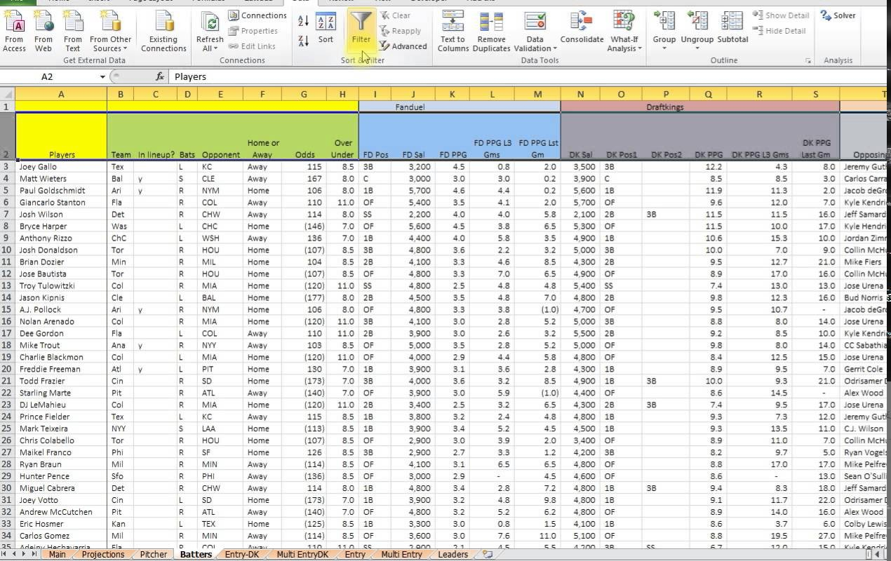 Free Baseball Stats Spreadsheet In Baseball Stats Excel Template  Austinroofing