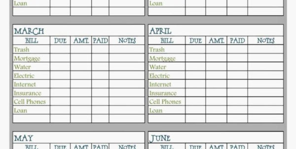 Free Bill Payment Spreadsheet In Bill Payment Spreadsheet Excel Templates And I Heart Crafting