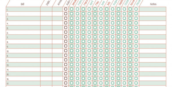 Free Bill Payment Spreadsheet Intended For Bill Paying Spreadsheet Printable  Austinroofing