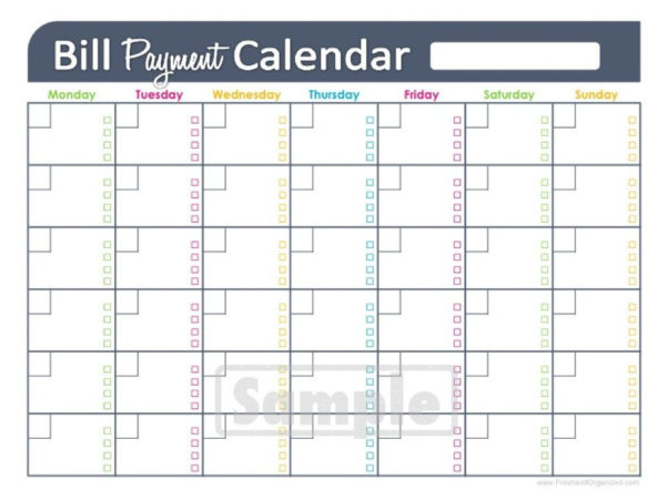 Free Bill Payment Spreadsheet Pertaining To Free Bill Paying Organizer Template Spreadsheet Monthly Printable
