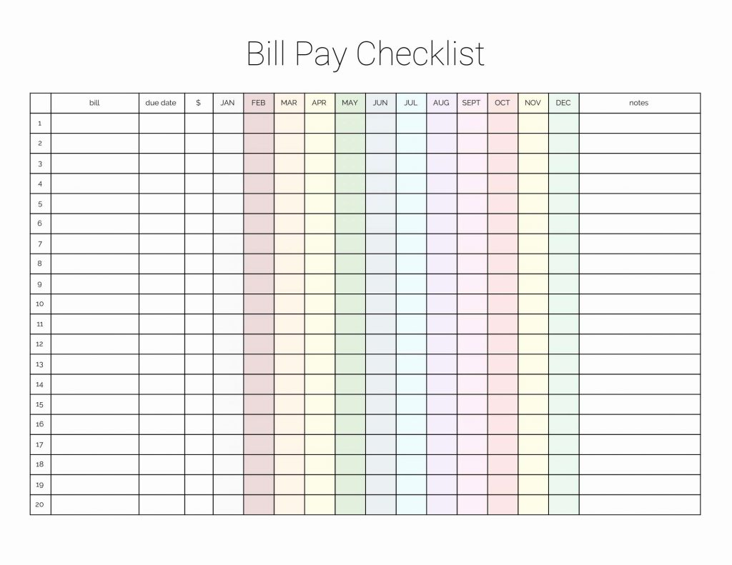 Free Bill Payment Spreadsheet With Regard To Free Bill Paying Organizer Template With Yearly Plus Monthly