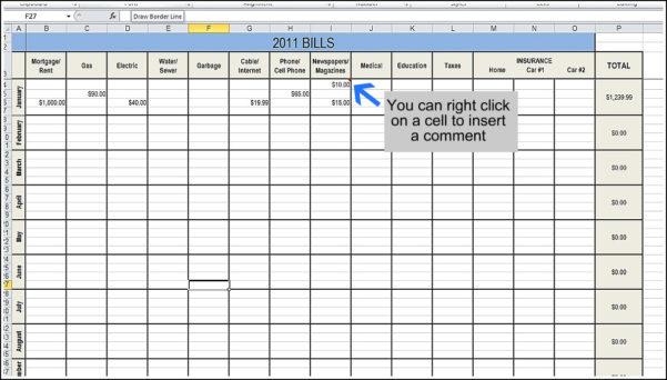 Free Bill Tracking Spreadsheet In Excel Bill Tracker – Emmamcintyrephotography