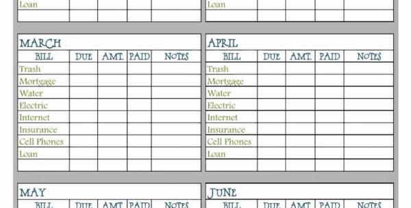 Free Bill Tracking Spreadsheet Regarding Billcker Template Paymentcking Excel Budget Spreadsheet Household