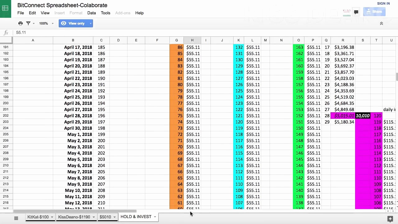 Free Bitconnect Spreadsheet Pertaining To Bitconnect Compounding Spreadsheet Examples Free Calculator Download