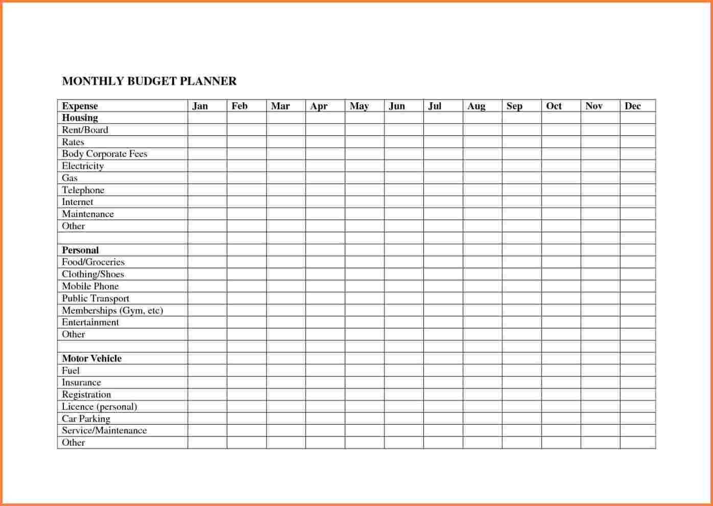 Free Budget Planner Spreadsheet Intended For Personal Budget Planner Spreadsheet  Resourcesaver