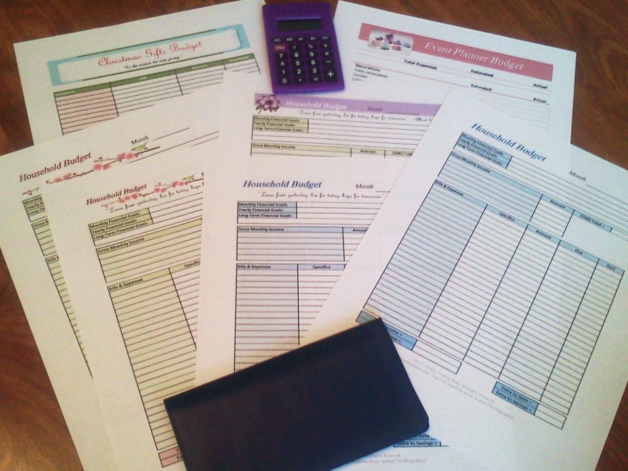 Free Budget Spreadsheet Printable Inside Free Printable Budget Worksheets